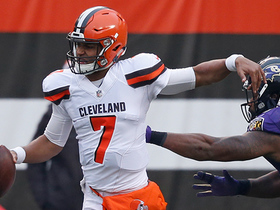 Watch: DeShone Kizer finds Seth Devalve as he's falling down for a 23-yard gain