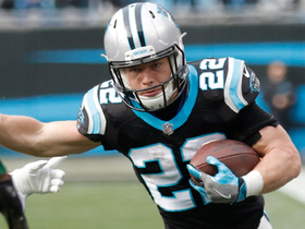 Cam hits McCaffrey for 21 yards as first half ends