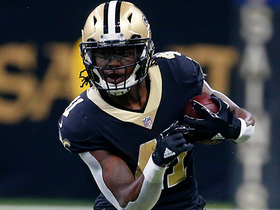 Watch: Alvin Kamara breaks free for his longest run of first half
