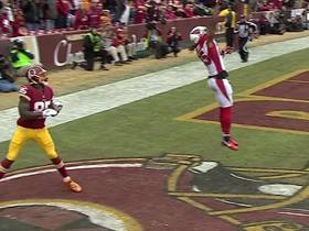 Williams gets MAJOR AIR to break up TD pass