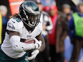 Jay Ajayi bursts through blockers to pick up 22 yards