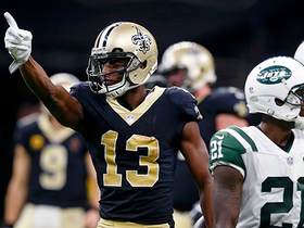Michael Thomas bodies Jamal Adams for leaping catch