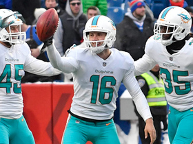 Dolphins recover their own onside kick with 36 seconds to go
