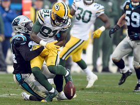 Watch: Geronimo Allison fumbles, Panthers recover it and seal victory