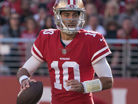 Watch: Jimmy G escapes traffic, throws pinpoint pass to convert on third down
