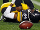 Watch: Antonio Brown knocked down in end zone, leaves game