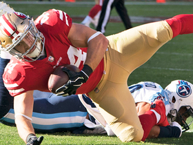 Juszczyk converts third down after Garoppolo burns Titans' blitz