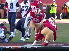 Delanie Walker coughs up the football, 49ers recover
