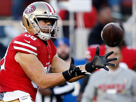 Watch: Garoppolo hangs in the pocket, delivers strike to Celek for 41 yards