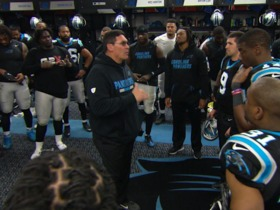 Watch: Panthers head coach Ron Rivera's post-game locker room speech