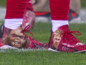 Kwon Alexander sports Jon Gruden cleats