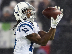 Jacoby Brissett slings 15-yard sideline pass to T.Y. Hilton