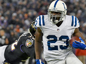 Frank Gore jukes his way past Eric Weddle for 12-yard gain