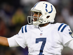Jacoby Brissett throws picture-perfect pass, Kamar Aiken drops it