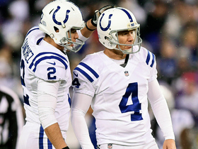 Vinatieri cuts Ravens' lead to three with ricochet field goal