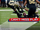 Watch: Can't-Miss Play: Football sticks to Marshon Lattimore's leg for unreal pick