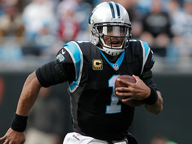 Cam Newton rips off 17 yard run off bootleg