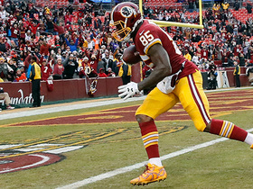 Watch: Cousins drops a 31-yard TD to Davis despite off-balance throw