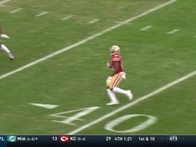 Jimmy Garoppolo fires pass to Marquise Goodwin for 24 yards