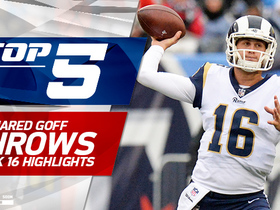 Top 5 Jared Goff throws | Week 16