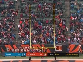 Randy Bullock hits 51-yard field goal to give Bengals the lead