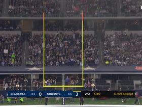 Dan Bailey nails 51-yard field goal with help from goal post