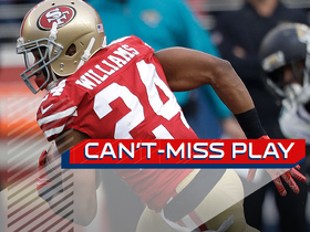 Can't-Miss Play: K'Waun Williams gets UP for incredible one-handed INT