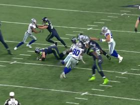 Sean Lee beasts through line of scrimmage for key tackle for loss