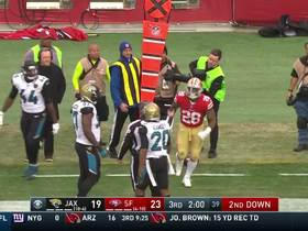 Myles Jack flagged for taunting Carlos Hyde on sideline