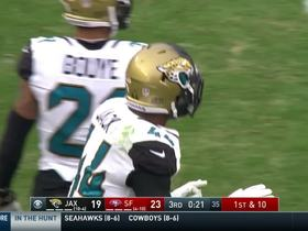 Myles Jack meets Carlos Hyde for big tackle at first-down marker