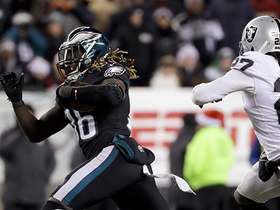 Watch: Ajayi breaks free for big run, then fumbles to Raiders
