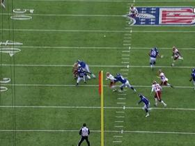 Watch: Preston Smith sniffs out screen pass, picks off Eli Manning