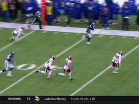 Travis Rudolph bursts upfield on 29-yard outlet pass
