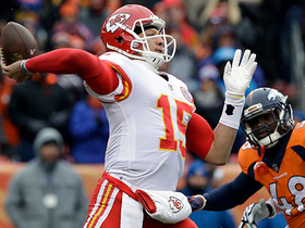 Watch: Mahomes throws first career INT to Darian Stewart