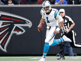 Cam takes read-option down the sideline for 17 yards