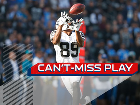 Watch: Can't-Miss Play: AC/DC! Derek Carr launches 87-yard TD to Amari Cooper