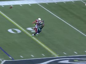 J.D. McKissic converts HUGE third down with catch off tipped pass
