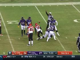 Matt Judon sprints through the middle, brings Dalton down for crucial sack