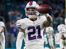 Watch: Jordan Poyer intercepts Fales to put the game on ICE