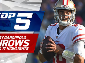 Top 5 Jimmy Garoppolo throws | Week 17