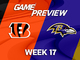 Watch: Bengals vs. Ravens highlights | Week 17