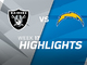 Watch: Raiders vs. Chargers highlights | Week 17