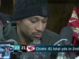 Albert Wilson on Chiefs' loss: 'We took our foot off the gas'