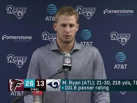 Goff after loss to Falcons: 'Playoff inexperience? I don't really understand what that means'