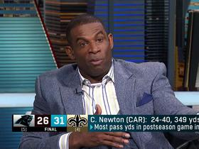 Sanders on Cam Newton: 'He has to be consistent'
