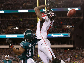 Watch: Eagles make pivotal fourth-down stop as ball goes through Julio's hands in end zone