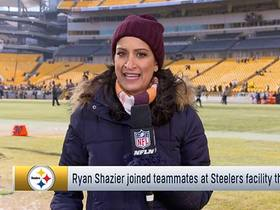 Ryan Shazier joined teammates at Steelers facility this week