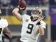 Watch: Brees delivers perfect TD toss over Rhodes to Michael Thomas