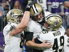 Watch: Will Lutz's late 43-yard FG splits the uprights to give Saints the lead