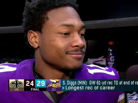Diggs on win: 'I've never been more happy to go back to work'